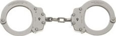 Peerless Standard Nickel Handcuffs - Model 700
