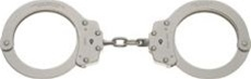Peerless Oversized Nickel Handcuffs - Model 7030