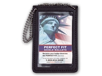 Perfect Fit Vertical Double ID Holder w/ Chain