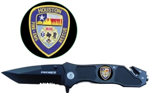 Combo Edge Knife w/ Houston Fire/EMS Logo