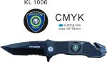 Combo Edge Knife w/ Houston Police Department Logo