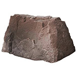 "Dekorra 110-RB-PRO - Riverbed Rectangular Rock Enclosure with Pro-R Thermal Wall Construction (39""L x 21""w x 21""H)"