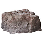"Dekorra 111-RB-PRO - Tall Round Riverbed Rock Enclosure with Pro-R Thermal Wall Construction (34""L x 32""W x 15""H)"