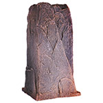 "Dekorra 113-RB - Tall Riverbed Telephone Pedestal Rock Enclosure (18""L x 17""W x 34""H)"