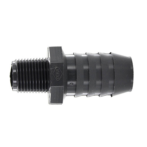 Dura 1436-075 1/2 in. Reducing MPT x 1 in. Barb PVC Pipe Adapter
