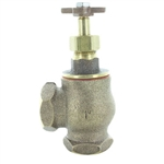 Champion 200RS-100 1 in. Manual Angle Valve Yellow Brass w/o Union w/Rising Swivel