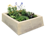 Dekorra 210-TV Large Faux Rock Planter Box in Tuscan Villa Finish