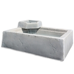 Dekorra 210-WF-EC Faux Rock Water Feature Basin English Castle Finish