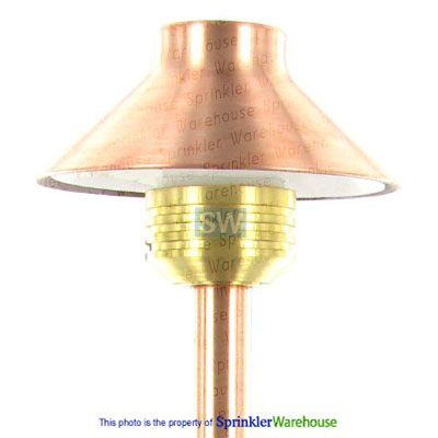 "FX 223320 - Copper DP10 DiamantePiccolo Pathlight with Stake, 12"" Riser and 10W Xenon G4 Lamp"