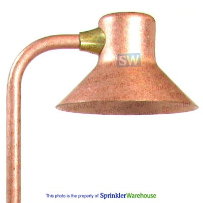 FX 223910 - Copper FG12 FaroGiardino Pathlight with CapannaDiNoce Stake and Frosted 12W Lamp