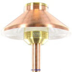 FX 224320 - Copper DL10 DemiLite Pathlight with Stake - 12 inch Riser and 10W Xenon G4 Lamp