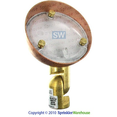 FX 226920 - Copper RL20 RotondoLuna Wash Light with Stake and 20W Xenon G4 Lamp