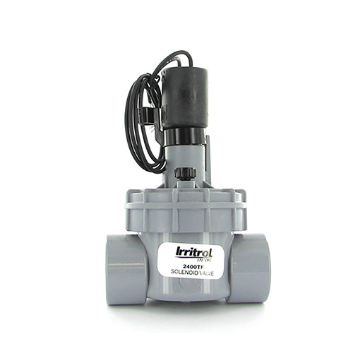 Irritrol 2400TF - 2400 Series Electric Globe Valve with Flow Control (1 inch Threaded Inlet/Outlet)