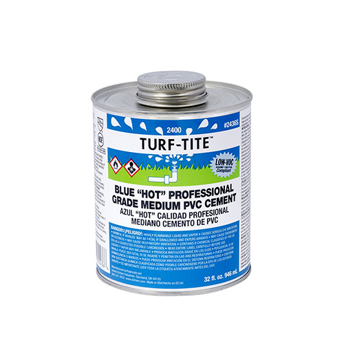 Oatey 2466S Turf-Tite Blue Hot Medium PVC Cement (4 oz.)