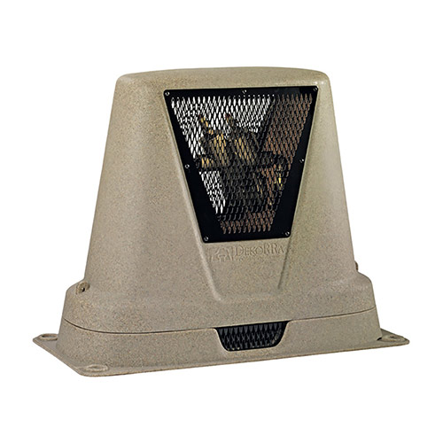 "Dekorra 301-BG-CV - Brown Granite CageView Backflow Enclosure (34.5""L x 17.5""W x 30""H)"