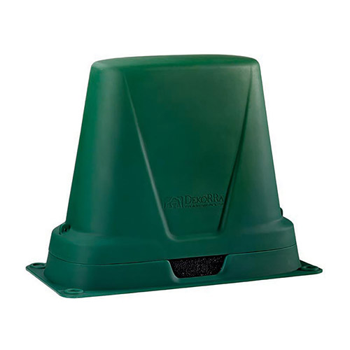 "Dekorra 301-GT-C1 - Insulated and Heated Green Turf Backflow Enclosure (34.5""L x 17.5""W x 30""H)"