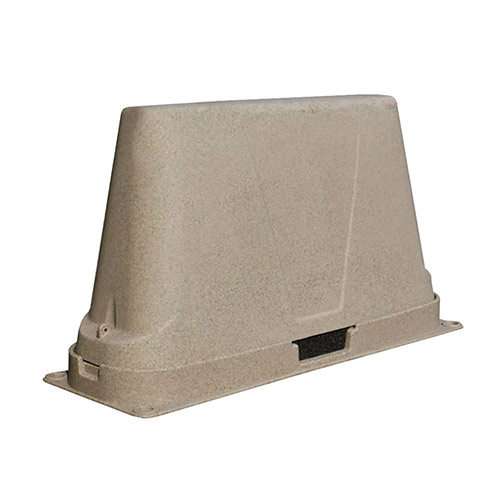 Dekorra 302-BG-C3 Large Non-Insulated Brown Granite Backflow Enclosure