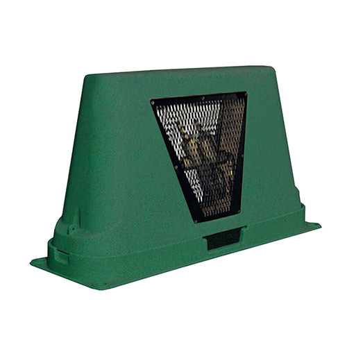 Dekorra 302-GT-CV Large Green CageView Backflow Enclosure