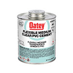 Oatey 30879 Lo-VOC PVC Flexible Clear Cement (32 oz.)