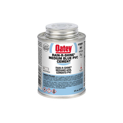Oatey 30891 PVC Rain-R-Shine Blue Cement (8 oz.)