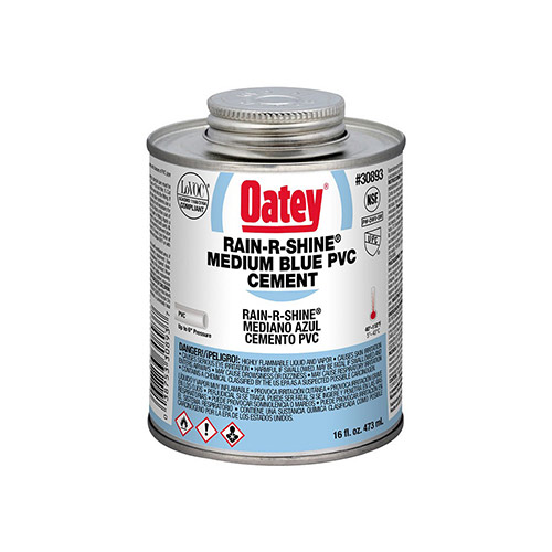 Oatey 30893 PVC Rain-R-Shine Blue Cement (16 oz.)