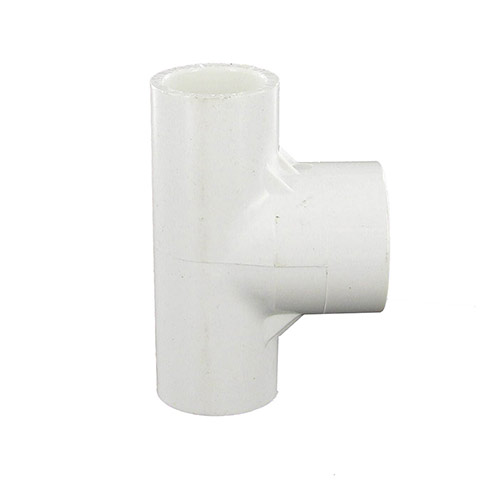 Spears 401-074 - 1/2 inch slip x 1/2 inch slip x 3/4 inch slip PVC Reducing Tee for sprinkler and irrigation systems.