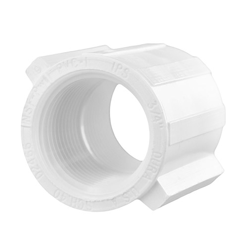 Spears 430-007 -  3/4 inch fpt x 3/4 inch fpt PVC Threaded Coupling