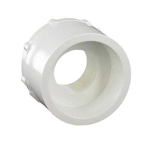 Dura 438-210 - 1-1/2 inch spigot x 3/4 inch fpt PVC Combination Reducing Bushing