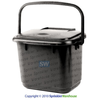 RTS 5553-000100-8000 - Black Odor Free Kitchen Caddy