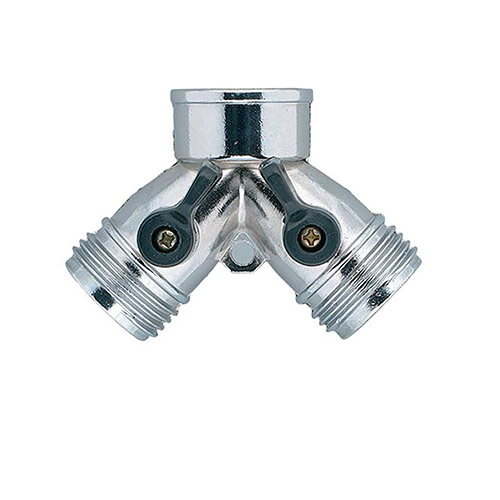 Orbit 58061N Zinc Hose Y-Valve With Dual Shut-off & Flow Control