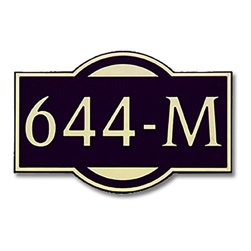 Dekorra 644H-L-GB - Large Designer Shape Gold on Black Custom Address Plaque (Horizontal)