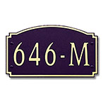 Dekorra 646H-M-GB - Medium Designer Shape Gold on Black Custom Address Plaque (Horizontal)