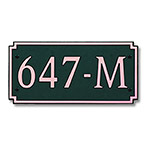 Dekorra 647H-L-CB - Large Designer Shape Copper on Black Custom Address Plaque (Horizontal)
