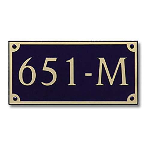Dekorra 651H-L-GB - Large Rectangle Shaped Gold on Black Custom Address Plaque (Horizontal)