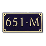 Dekorra 651H-M-GB - Medium Rectangle Shaped Gold on Black Custom Address Plaque (Horizontal)