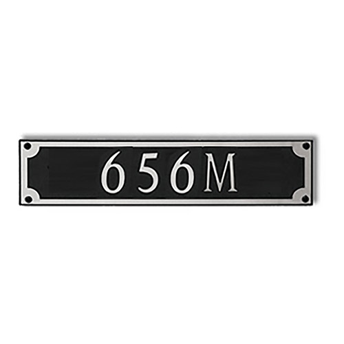 Dekorra 656H-M-NB - Medium Rectangle Shaped Nickel on Black Custom Address Plaque (Horizontal)