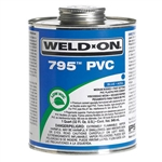IPS 795-020 - Weld-On 795 Clear PVC/Flex Pipe Glue (1 Pint)