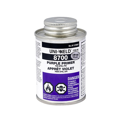 Uni-Weld 8766S LOW-VOC Purple Primer (4 fl. oz.)