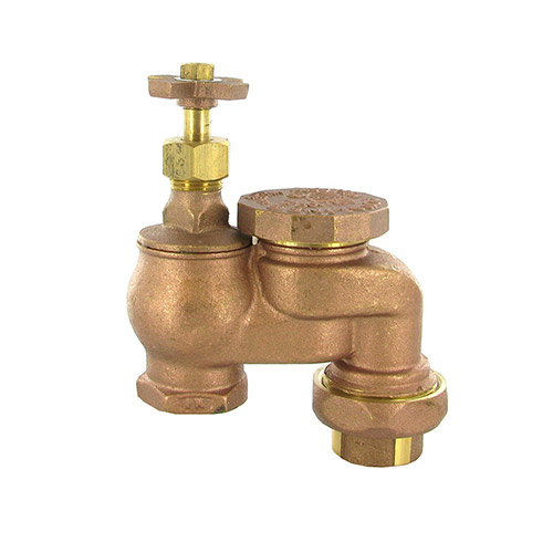"ASU-100 - Aqualine - 1"" ant-siphon valve with union & cross handle"