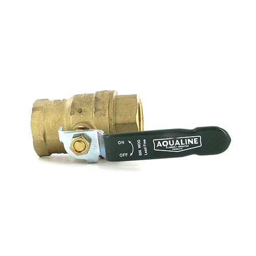 Aqualine BBV-100LF Lead-Free Brass Ball Valve (1 in.)