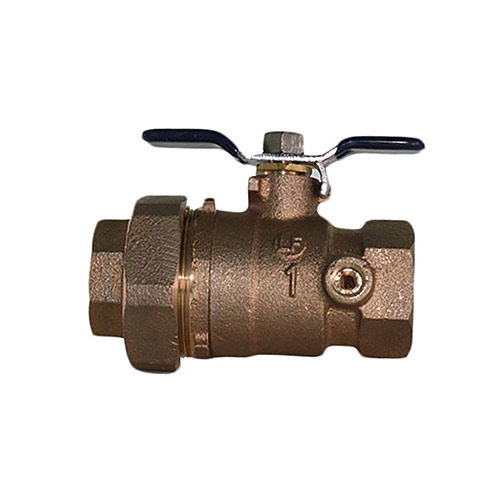 Aqualine BBVB-100TU 1 in Brass Backflow Ball Valve Port-Union