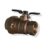 Aqualine BBVB-100U 1 in Brass Backflow Ball Valve Less Port