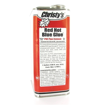 Christys BG-005 - Red Hot Blue Glue (1 Gallon)