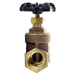 Aqualine BGV-100 1 Inch Brass Gate Valve with Wheel Handle