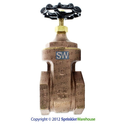 Aqualine BGV-300 3 Inch Brass Gate Valve with Wheel Handle