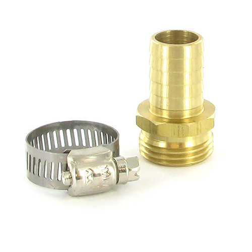 "BHR-34F - Aqualine - 5/8"" Brass Male Hose Repair Fitting"