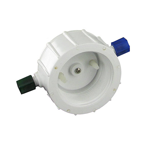 EZ Flo CAP-HPF - High Pressure White Cap with Nuts and O-ring for FX Mainline Units - Fine Thread White