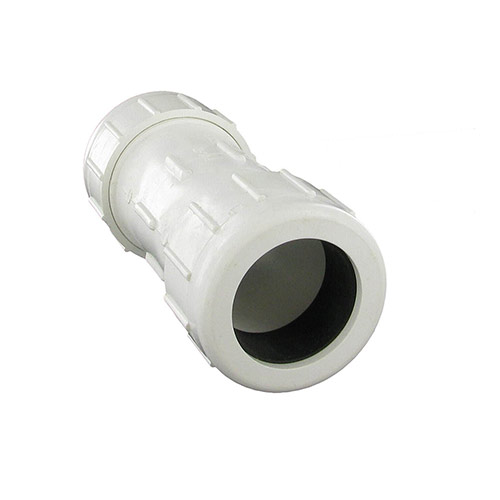 King Brothers CPC-1500 - 1-1/2 inch PVC Compression Coupling (IPS Comp. x IPS Comp)