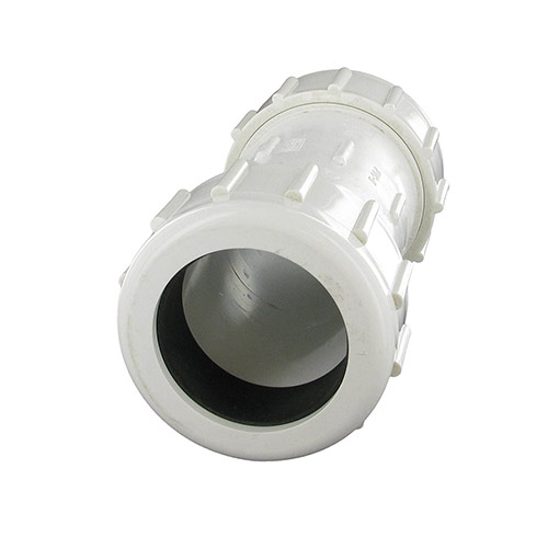King Brothers CPC-2000 - 2 inch PVC Compression Coupling (IPS Comp. x IPS Comp)