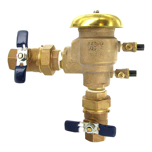 Febco FEU765-100 - 1 inch Pressure Vacuum Breaker with Union Ball Valve Ends